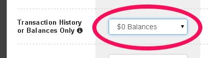 naked $0 balances