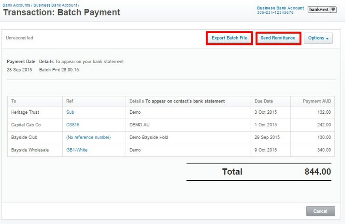 ... Payment And Send Remittance Advice. Batch10  Payment Remittance Template